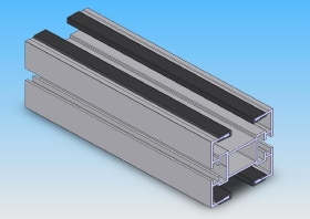 Aluminium profile with wear strips