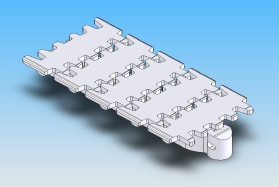 Plain slat conveyor chain