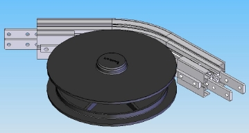slat conveyor wheel bend